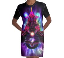 Dragon Orb Graphic T-Shirt Dress