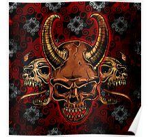 Evil Skulls Poster
