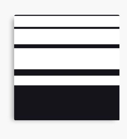 "Retro ""stripes"" collection: Black and White Canvas Print"