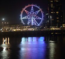 Ferris Wheel Colour Reflections by MichaelCouacaud