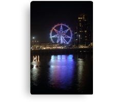 Ferris Wheel Colour Reflections Canvas Print