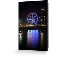 Ferris Wheel Colour Reflections Greeting Card