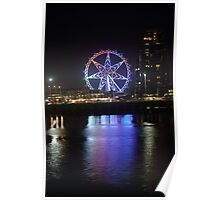 Ferris Wheel Colour Reflections Poster