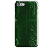 Green Lights - Matrix effect iPhone Case/Skin