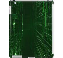 Green Lights - Matrix effect iPad Case/Skin