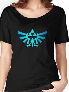 Piramid simbol Triforce blue Women's Relaxed Fit T-Shirt