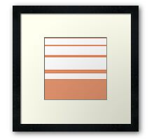 "Retro ""stripes"" collection: Black and White Framed Print"