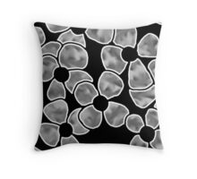 Shadow Flowers - Grayscale Throw Pillow