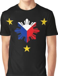Philippines 3 Sun and a Star Philippine Flag Graphic T-Shirt