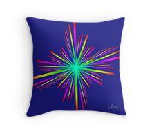 Rainbow Flare Fractal 61716 Throw Pillow