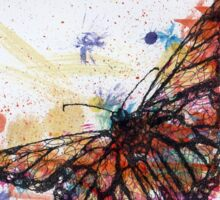 Scribble Ink Butterfly Sticker