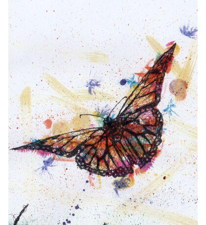 Scribble Ink Butterfly Sticker