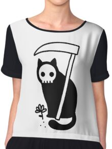 Grim Kitty Chiffon Top