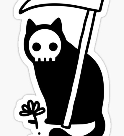 Grim Kitty Sticker