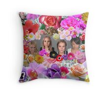 Princesses mugshots Throw Pillow