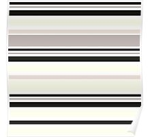 """Retro """"Stripes"""" collection: Black and White Poster"""