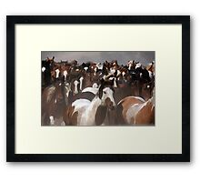 Horses On The Move Framed Print