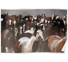 Horses On The Move Poster
