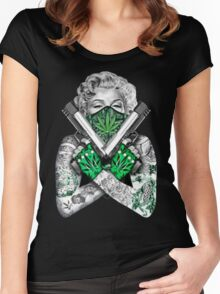 420 somewhere Women's Fitted Scoop T-Shirt