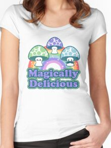 Delicious Mushrooms Women's Fitted Scoop T-Shirt