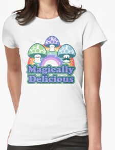 Delicious Mushrooms Womens Fitted T-Shirt