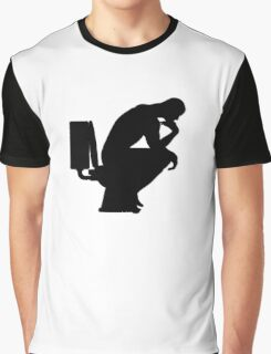 The Thinker (black) Graphic T-Shirt
