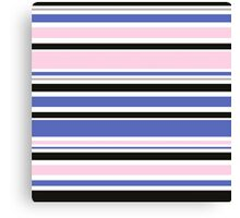 "Retro ""stripes"" dreamy summer 2016 collection: blue, pink, black Canvas Print"