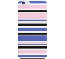 "Retro ""stripes"" dreamy summer 2016 collection: blue, pink, black iPhone Case/Skin"