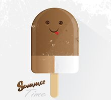 summer time ice cream with face by Diana Hlevnjak