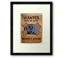 Buffy The Judge Wanted Framed Print
