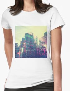 Urban Graffiti Womens Fitted T-Shirt