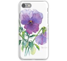Lavender Pansy iPhone Case/Skin