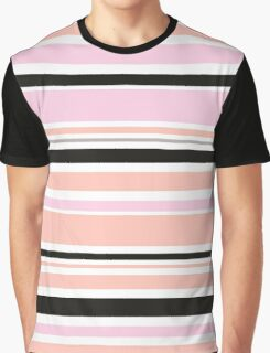 """Retro """"stripes"""" collection: peach, pink and black Graphic T-Shirt"""