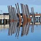 Docks Reflections - Stornoway Harbour by kathrynsgallery