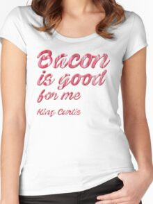 King Curtis. Bacon. Women's Fitted Scoop T-Shirt