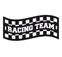 Racing Team Flag Logo Design by Style-O-Mat