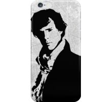 Sherlock With London Map iPhone Case/Skin