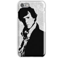 Sherlock With London Map iPhone Case/Skin