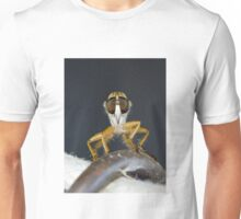 Close up macro of a Robber Fly - Efferia albibarbis Unisex T-Shirt