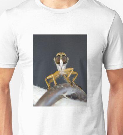 Close up macro of a Robber Fly - Efferia albibarbis Unisex T-Shirt