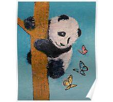 Panda Butterflies Poster