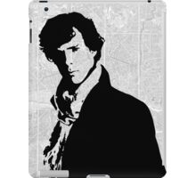 Sherlock With London Map iPad Case/Skin