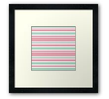 "Retro ""stripes"" collection: peach pink. Latest Fashion.  Framed Print"