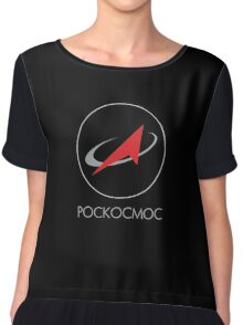 Pockocmoc Russian Space Agency Chiffon Top