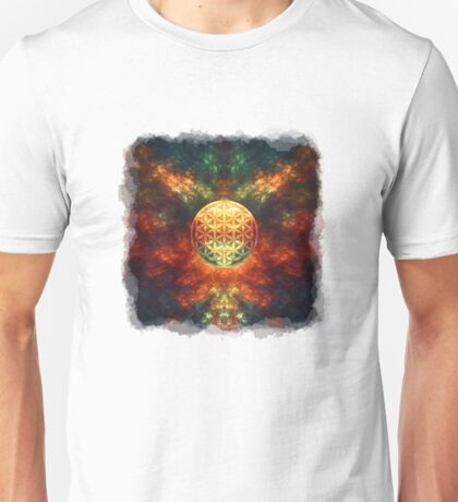 Centered Reality (Flower Of Life) Unisex T-Shirt