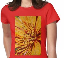 Mesmerizing Golds and Yellows - a Floral Ceramic Tile Mosaic Womens Fitted T-Shirt