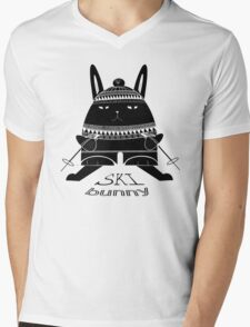 Ski Bunny Mens V-Neck T-Shirt