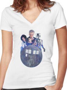 Doctor Who - Return to Mondas Women's Fitted V-Neck T-Shirt