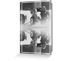 CRA Flight Deck 2 Gray Greeting Card