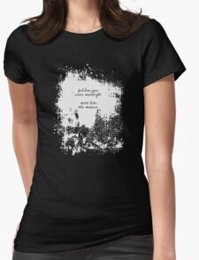 Allen Ginsberg - Madness Quote Womens Fitted T-Shirt